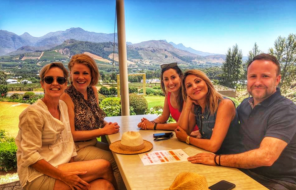 wine tasting at Haute Cabriere, Franschhoek
